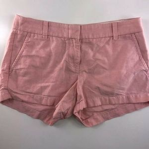 J.Crew Flat Front Cuffed Pink Cotton Shorts CX15